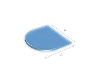 Glazen vloerplaat halfrond