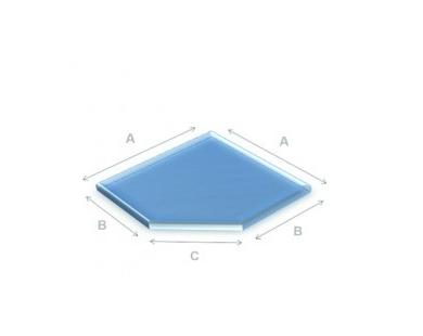 Glazen vloerplaat schuine kant