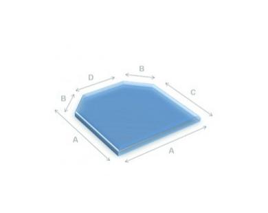 Glazen vloerplaat zeskant