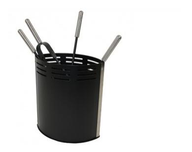 Haardstel zwart 114 - 506A